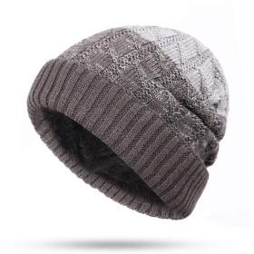 ニット帽 新ニットメンズ帽子ベルベット太いの暖かく快適男性冬キャップユニセックス男性SkulliesだらしないビーニーGorros Invierno TDHHY (Color : Gray B)