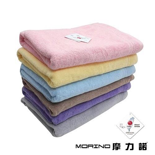 MORINO 飯店級素色緞條浴巾(紫 74X150cm)[大買家]