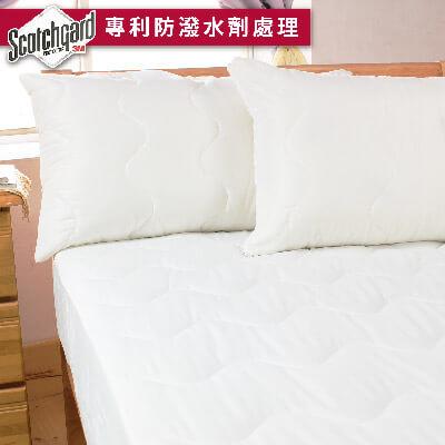 bedtime story專利3M防潑水平單式保潔墊-雙人加大6x6.2尺