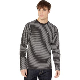 [VANS(バンズ)] メンズTシャツ Striped Long Sleeve T-Shirt Black/White M [並行輸入品]