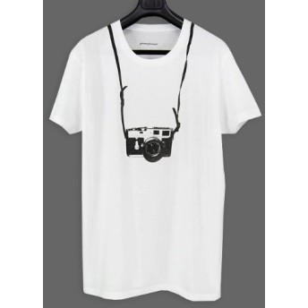 [エムエイチエー] MHA  greenpoint カメラ転写Tシャツ XS ホワイト