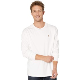 [Polo Ralph Lauren(ポロラルフローレン)] メンズTシャツ Long Sleeve Soft Touch Tee - Classic White 2XL (2XL) One Size [並行輸入品]