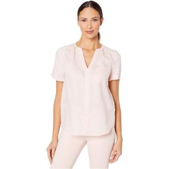 ヴィンスカムート トップス シャツ Short Sleeve One-Pocket Button-Down Line Pink Lotus レディース [並行輸入品]