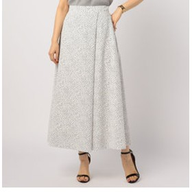 【NOLLEY'S:スカート】プリントフロントタック入りマキシスカート