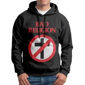 ADDOP バッドレリジョン Bad Religion メンズ パーカー スウェット フーディーフード付き プルオーバート 長袖トップス 人気 創意設計 カジュアル ストリート 春/秋/冬