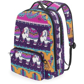 バックパック ビジネスリュック 鞄 デイパック 和柄 ペイズリー インド 象柄 リュックサック 旅行カバン カバン 取り外し可能 多機能 メンズ レディース カジュアル PCリュック 通勤 大容量 おしゃれ かわいい 衝撃吸収 ザック