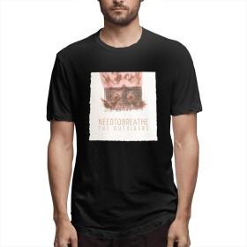DRAKEA Needtobreathe The Outsiders 男性 半袖 Tシャツ Classic Tシャツ Leisure Tシャツ ブラック