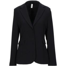 《セール開催中》SOUVENIR レディース テーラードジャケット ブラック L ポリエステル 91% / ポリウレタン 9%