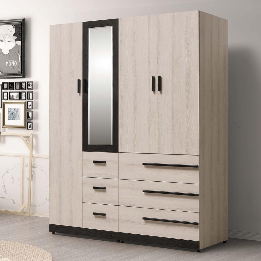 H&D 東稻家居︱瑪爾斯5.3尺衣櫃/衣櫥/衣物收納【21HY2/B081-01】