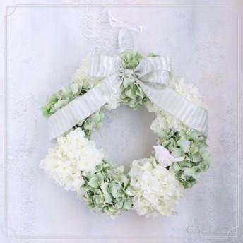 春の紫陽花リース pepermint green