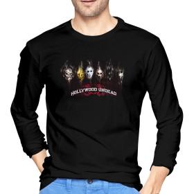 KEATAR Hollywood Undead Mans コットン Long Sleeve T-シャツ ブラック Sports ブラック