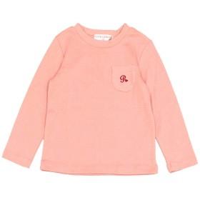 アスナロ(トップス 長袖tシャツ) 長袖Tシャツ 女の子 キッズ ストレッチ 胸ポケット付き シンプル110 スモークピンク