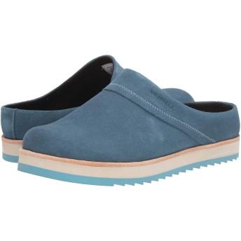 [メレル] レディースクロッグズ・ミュール・スライド・靴 Juno Clog Suede Bluestone 8.5 (25.5cm) M [並行輸入品]