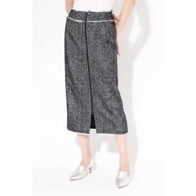 【ローズバッド/ROSEBUD】 ヘリンボーンストレートスカート