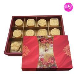 禮美 金鑽綠豆糕禮盒12入 x 5