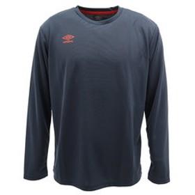 【Super Sports XEBIO & mall店:トップス】CU.ワンポイントクル-長袖Tシャツ UMUMJB69 NVY