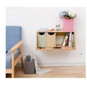 クリエイティブ研究ウォール格子本棚、ベッドルームのための現代マニュアルDIYロッカーは、ウォールは、4杯の布引き出し付き長方形棚ストレージラックマウント (Size : B)