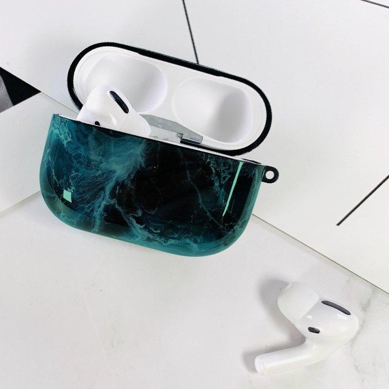 Hong Man 大理石紋 AirPods Pro 防塵耐磨保護套 墨綠款