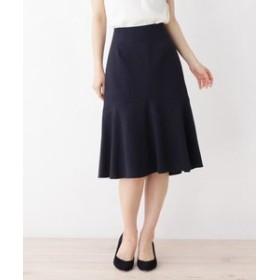 【SOUP:スカート】【大きいサイズあり・13号・15号】落ち感きれいな切り替えフレアスカート