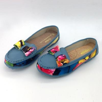 KEITH-WILL時尚鞋館 (現貨+預購) 繽紛多彩大蝴蝶造型真皮鞋-藍