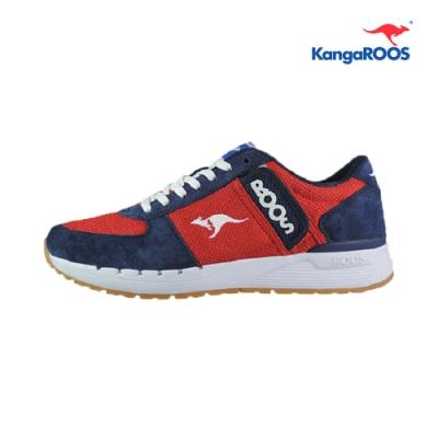 KangaROOS COMBAT- CB 經典口袋男慢跑鞋 紅藍 KM91032