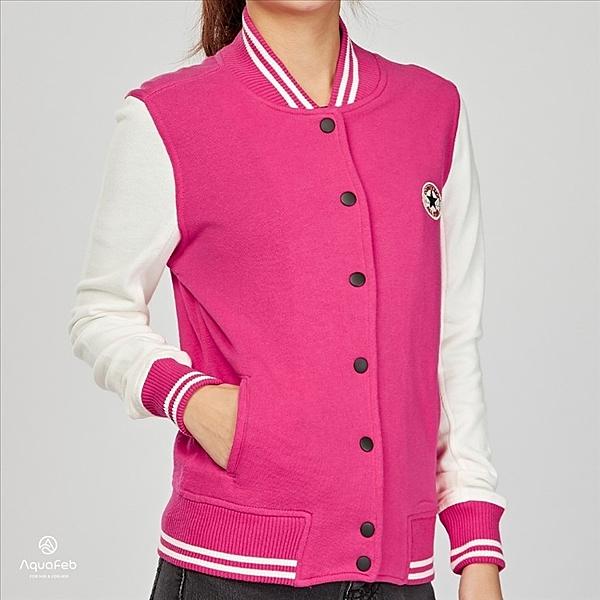 Converse 女子 紅白 立領 針織 毛圈內裏 運動 休閒 外套 09583C666