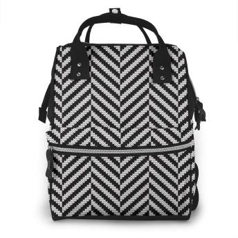 マザーズバッグ リュック 大容量 ポケット付き 多機能 ベビー用品収納 バッグ 通勤 旅行 出産準備 出産祝いなど用 テクスチャフィッシュボーンを織り