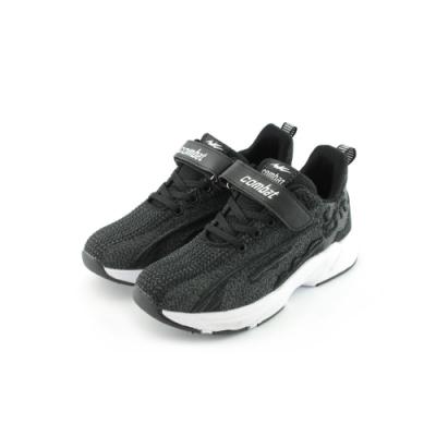COMBAT艾樂跑童鞋-飛織運動鞋-黑紅/黑白(TD6287)