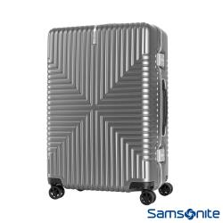 Samsonite新秀麗 28吋Intersect 高質感PC鋁框硬殼TSA行李箱(銀)-GV5*25003
