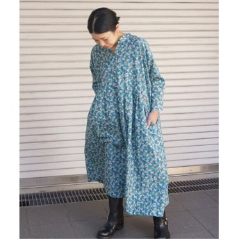 journal standard luxe リバティブーケ ampleプルワンピース◆ ブルー A フリー