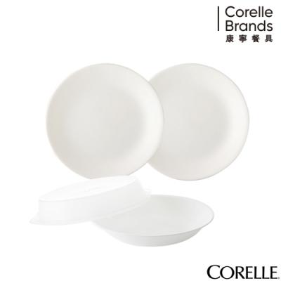 美國康寧 CORELLE 純白4件式餐盤組 D26