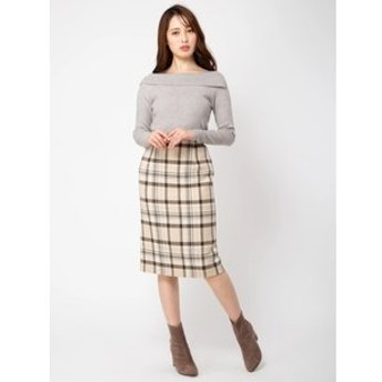 【BE RADIANCE:スカート】チェックタイトスカート