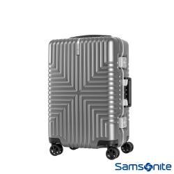 Samsonite新秀麗 20吋Intersect 高質感PC鋁框硬殼TSA登機箱(銀)-GV5*25001