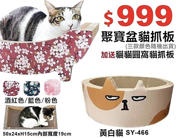 『寵喵樂旗艦店』寵喵樂《貓咪帆船 貓抓窩 貓抓板》全面可抓SY-389+貓貓圓窩貓抓板SY-466
