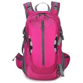 IhDFR アウトドアスポーツハイキングバックパックレジャーハイキングバックパック大容量防水旅行バックパック (Color : Pink)
