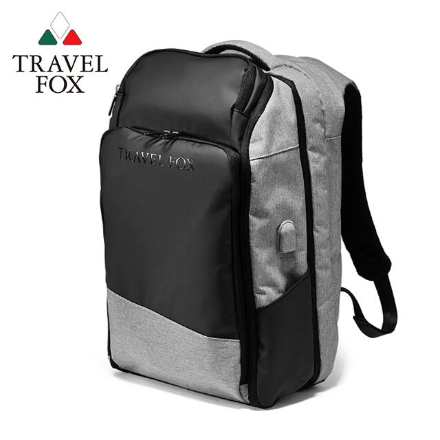 TRAVEL FOX 旅狐 SELECT 悠遊旅人大容量旅行商務後背包 TB802-60 黑灰