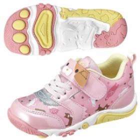 ムーンスター キッズ 子供靴 スニーカー キャロット キッズ CR C2261 ピンク  MOONSTAR CR-C2261-PINK
