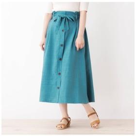 【グローブ/grove】 【WEB限定サイズあり】リネンタッチフロントボタンスカート