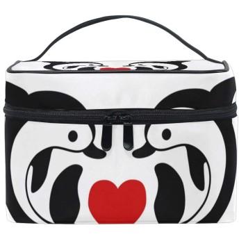 バレンタインのロマンチックな動物のイルカ 化粧ポーチ 化粧品収納バッグ 大容量 旅行 化粧キット