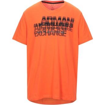 《セール開催中》ARMANI EXCHANGE メンズ T シャツ オレンジ S コットン 100%