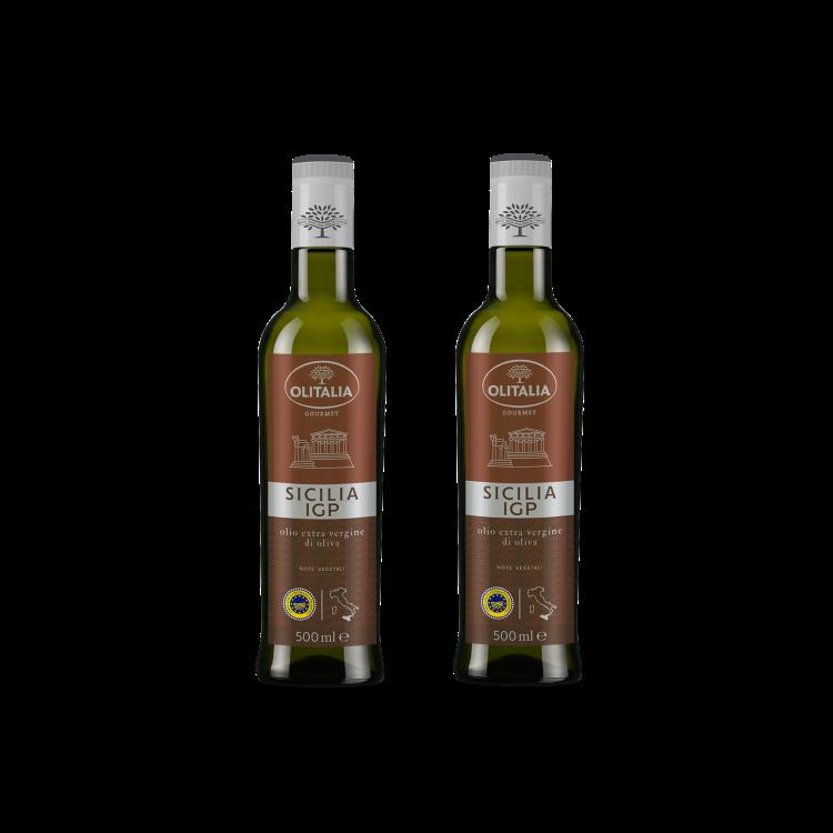 奧利塔西西里橄欖油( Sicilia  I.G.P.  Extra Virgin Olive Oil) 500毫升2瓶組(可選擇搭贈奧利塔禮盒)(限配送台灣本島地區)