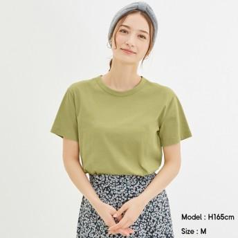 (GU)カラークルーネックT(半袖) GREEN M