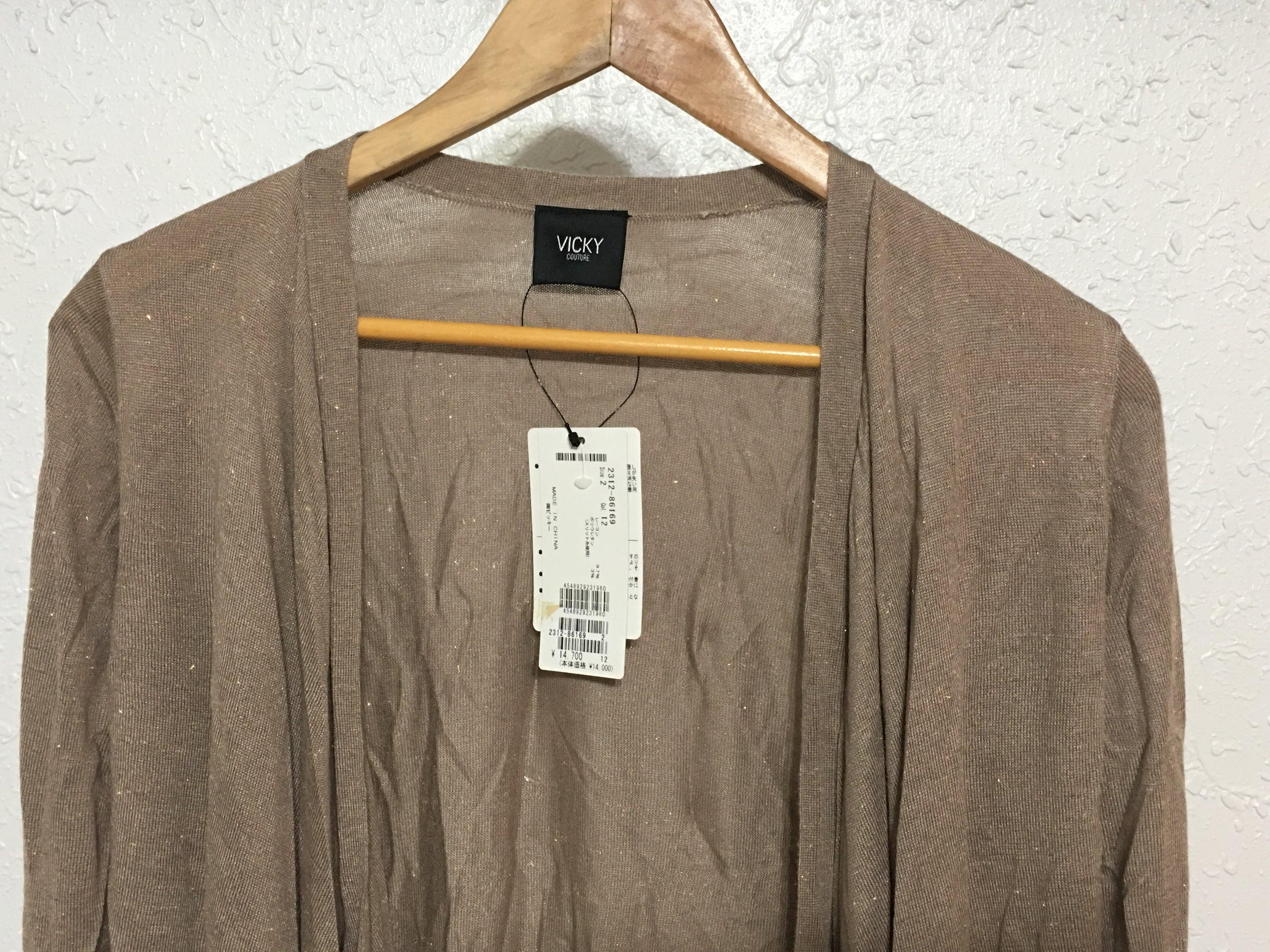 日本代購 VICKY 原價一萬多日幣 咖啡色 大地色 罩衫 薄外套 日本