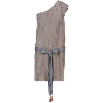 《セール開催中》BRUNELLO CUCINELLI レディース ミニワンピース&ドレス グレー 40 革