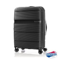 AT美國旅行者 24吋 Linex防刮耐衝擊硬殼TSA行李箱(黑)-GH1*09002