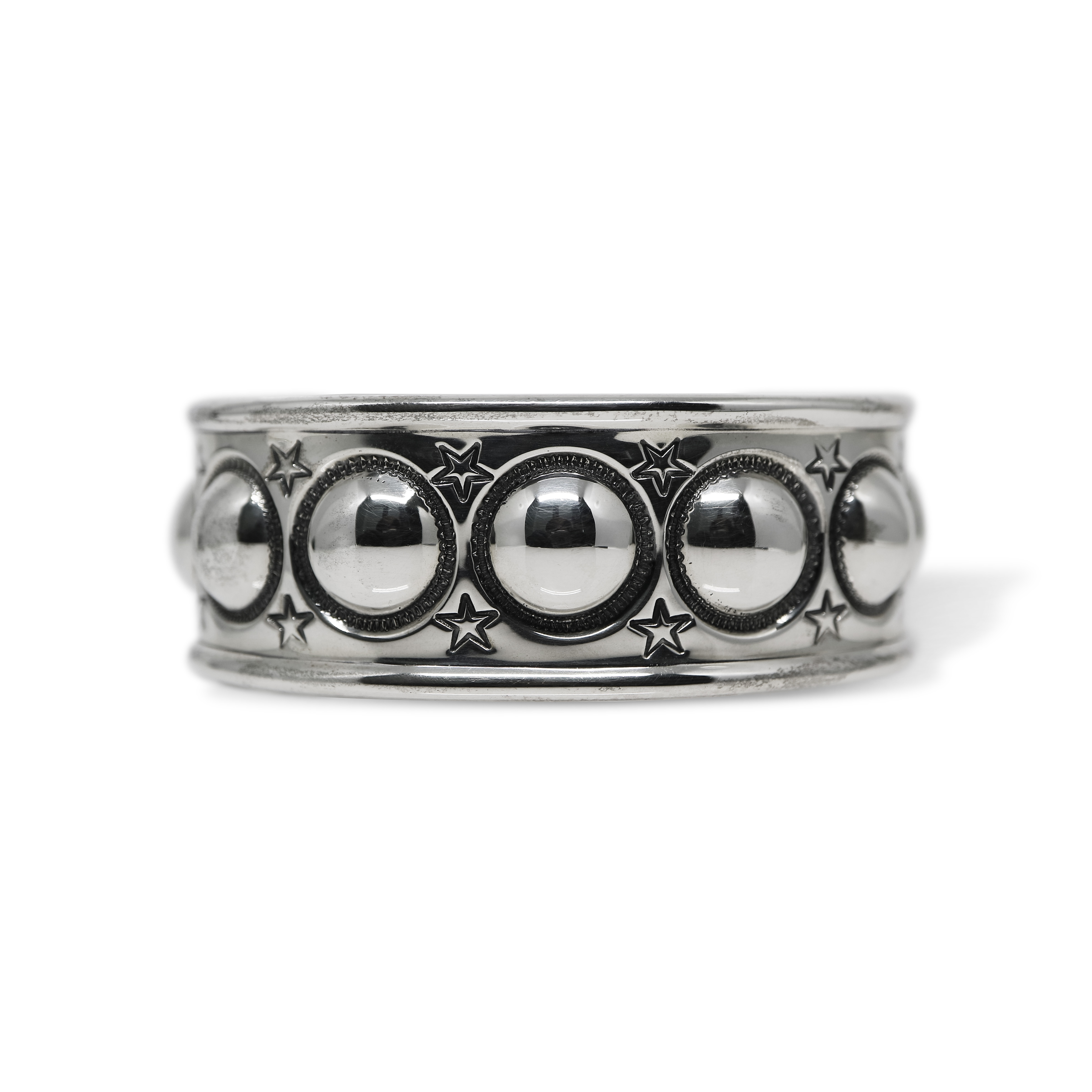 1 INCH 9 SMALL MOON WITH STARS CUFF [USD $2450]