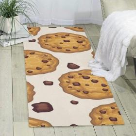 カーペット チョコチップクッキー マット ラグパッド 廊下マット 折り畳み可能 清潔 軽量 弾力性 耐久性 滑り止め 抗菌防臭 吸水 速乾 掃除易い 玄関用 ホーム用 トイレ用 加工絨毯 おしゃれ 18060cm
