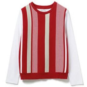 【メンズビギ:トップス】マルチストライプロングスリーブTシャツ