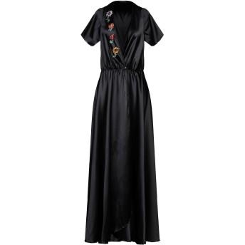 《セール開催中》FRANCESCA CONOCI レディース 7分丈ワンピース・ドレス ブラック M ポリエステル 100%