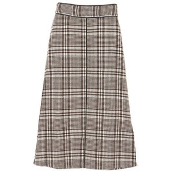 【Green Parks:スカート】・RAY CASSIN チェック×パイピングスカート